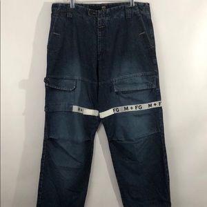 Marithe Francois Girbaud Shuttle Tape Jeans sz 38